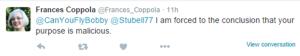 Coppola Malicious Intent Complaint
