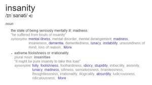 Insanity Definition
